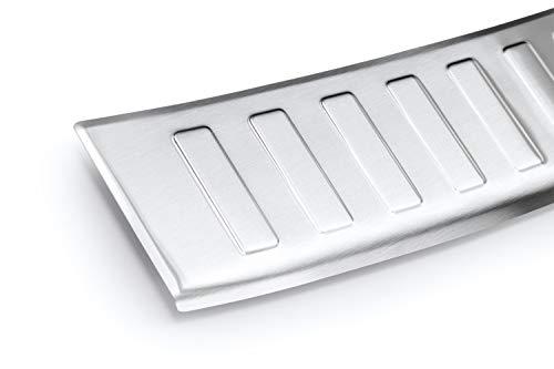 tuning-art L212 Kombi Edelstahl Ladekantenschutz 5 Jahre Garantie, Farbe:Silber