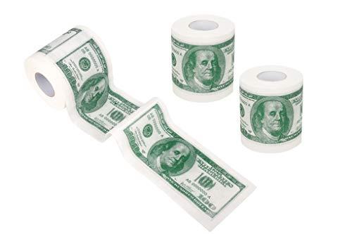 SummitLink 3 Rolls $100 Hundred US Dollar Bill Toilet Paper Tissue Napkin Prank Fun Birthday Party...