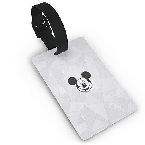 DNBCJJ Etiquetas de equipaje para maletas Mickey Mouse Cartoon Luggage Tag,con nombre ID maleta para mujeres y hombres niños accesorios de viaje