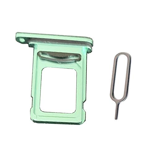 Draxlgon Dual SIM Card Tray Slot Holder Adapter for iPhone 11 XI A2111 A2111 A2223 6.1inch Green
