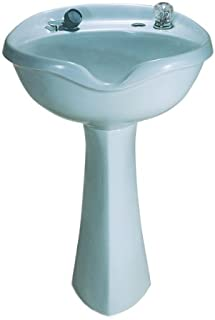 Marble 2001 White Pedestal Shampoo Bowl with 550 Faucet and Spray Hose [Misc.]