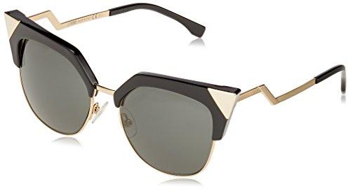 FENDI FF 0149/S P9 REW Gafas de sol, Negro (Black Gold/Grey), 54 para Mujer