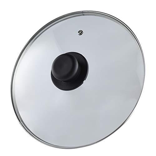 Coperchio universale, padella e pentola, vetro, bordo alluminio, 34 cm