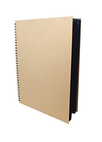 Artway Enviro - Skizzenbuch - 100% Recycling - Schwarzes Papier/Karton - A3-30 Blatt mit 270 g/m²