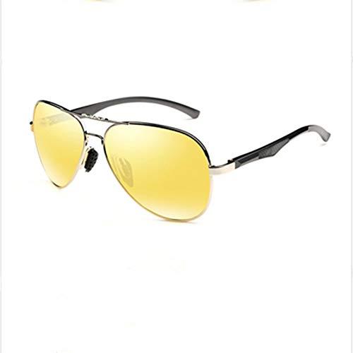 HDSJJD Gafas De Sol, Gafas De Sol Polarizadas Unisex Aviator TAC, con Protección UV400 Y Aislamiento De Deslumbramiento,E