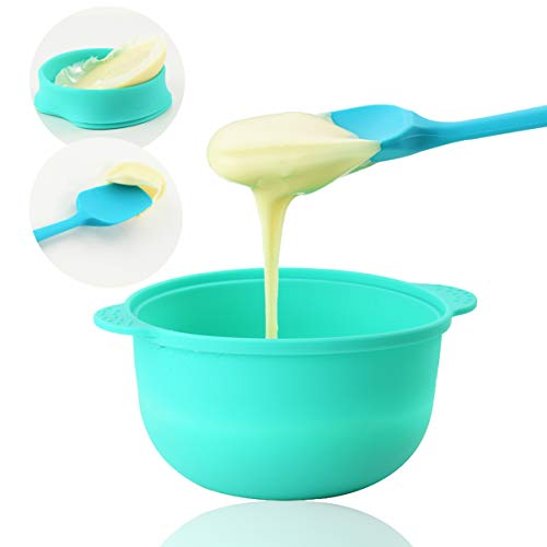 Replacement Wax Pot for Wax Warmer, Non-stick Wax Bowl and Spatulas Set of 2, Reusable & Removable Wax Pots and Scraper for All Kinds of 500ml Wax Heater Machine.