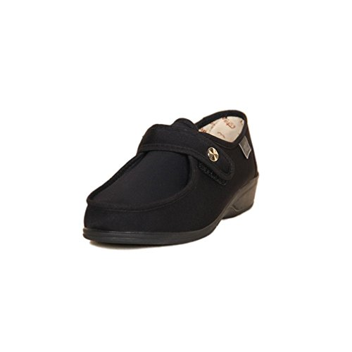 DOCTOR CUTILLAS 746 Zapatilla Velcro Confort Mujer Negro 37
