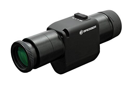 Bresser High-End Monokular 16x30 mit optischen Bildstabilisator für verwacklungsfreie Beobachtungen mit voller Mehrschichtvergütung und spritzwassergeschützt, inkusive Trageriemen und Gürteltasche