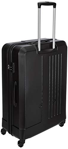 Amazon Brand - Solimo Black Hardsided Check-in Trolley, 75 cm