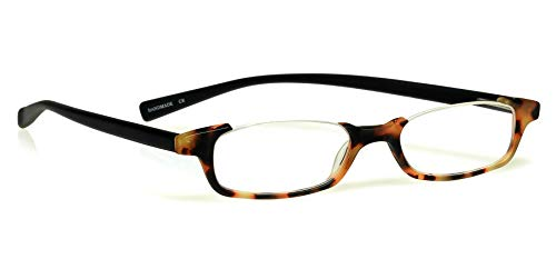 eyebobs What Inheritance? Unisex Premium Readers, Tortoise Front with Black Temples in a Rubberized Finish, 1.50 Magnification