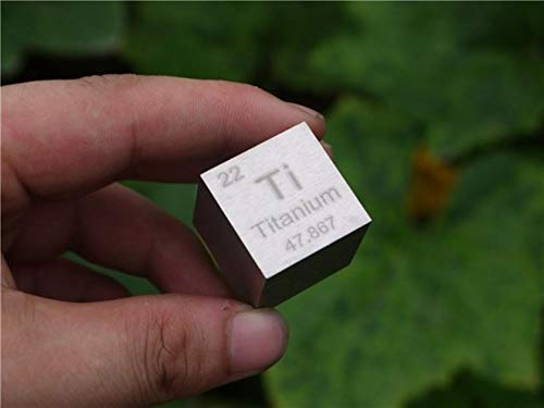 1 pulgada Cubo Metal titanio 99,5% Alta Pureza Cubo Titanio