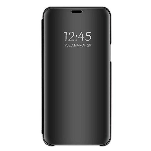 Neivi iphone 8 Couverture, 7 Cas Miroir téléphone PU Cuir Flip Pochette de Protection véritable pour (Noir 8)