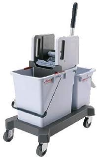 Vileda Vileda Double seau de nettoyage avec presse verticale 25 l et 9 litres pour système de nettoyage de l'eau propre et...