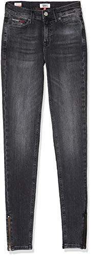 Tommy Jeans Mujer Nora Mid Rise Skny Ank Zip Jrvbk Straight Jeans, Azul (Denim 1bv), W24 / L28