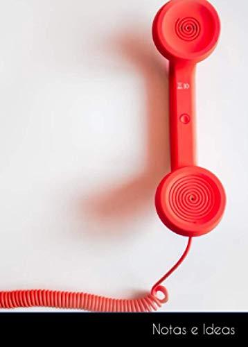 Notas e Ideas: Cuaderno / diario de bala pequeño teléfono rojo cable...