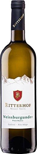 6x 0,75l - 2018er - Ritterhof - Weißburgunder - Alto Adige D.O.C. - Südtirol - Italien - Weißwein trocken