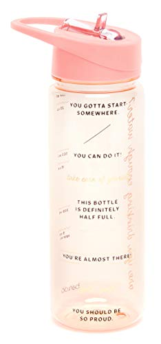 ban.do Insulated Water Bottle with Straw, BPA-Free Water Bottle Holds 24 Ounces with Motivational Markers for Daily Drinking, Drinking Enough Water?