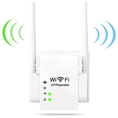 BIGFOX Ripetitore Wireless WiFi,2,4GHz WiFi Extender Segnale WiFi Access Point Ethernet/LAN/WPS,modalità AP/Ripetitore,300Mbps Amplificatore Segnale WiFi Casa con 2 Antenne