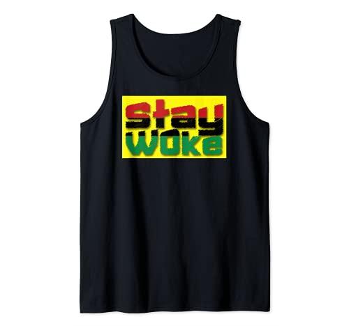 Stay Woke AF Pro Negro Power Negro History Blm Camiseta sin Mangas
