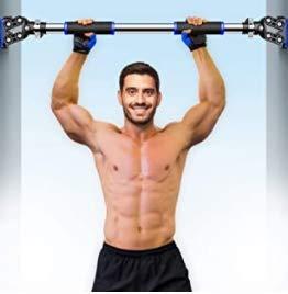 RHINOSPORT Barra de dominadas ajustable para la parte superior de los brazos...