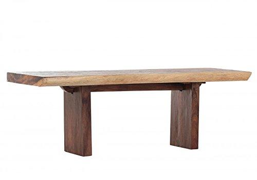 Casa Padrino Esstisch aus Baumstamm gesägt Suar Holz 220 cm - Tisch Massiv Massivholz