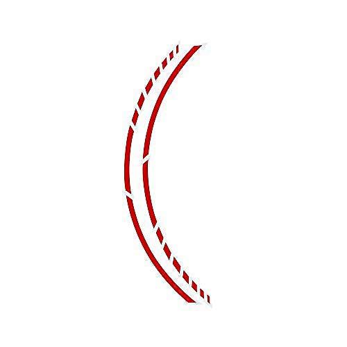Foliatec PIN Striping Racing, Zierstreifen für Motorräder, Selbstklebend, Waschstraßenfest, sportlicher Look im Racing-Style, Rot