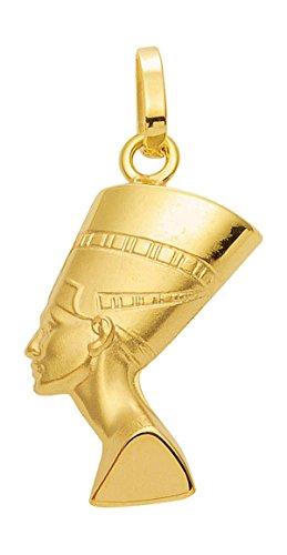 Nofretete Anhänger, Kettenanhänger aus 333 Echt Gold 8 Karat