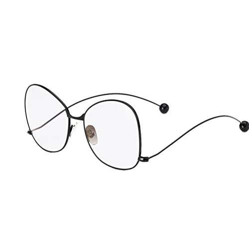 Linyuan Round Retro Metal Prescription Ready Glasses Frame Clear Lens MC2274-L-3#