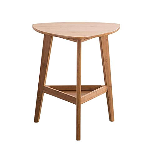 LY88 bamboe driehoek dubbele opslag bank bijzettafel salontafel kleine woonkamer tafel