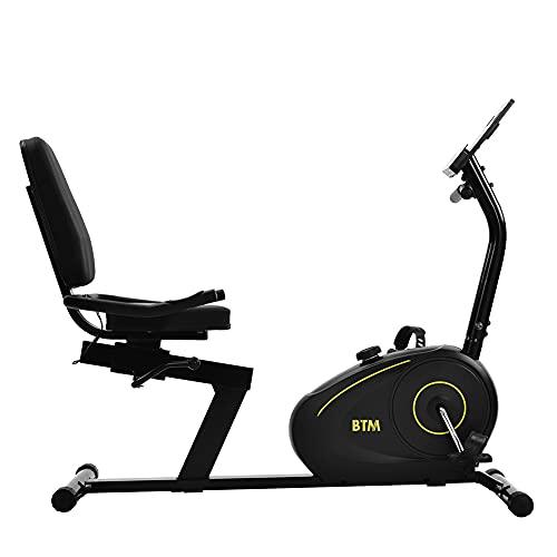 sun yoba Bicicleta de ejercicio recumbent para interior de entrenamiento cardiovascular para el hogar, oficina, entrenamiento, uso 8 niveles ajustable magnético elíptico bicicleta de ejercicio