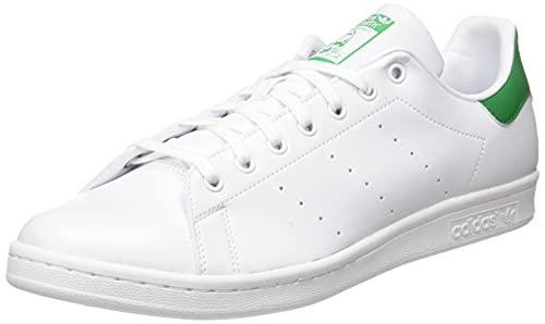 adidas Stan Smith, Sneaker Hombre, Footwear White/Footwear White/Green, 43 1/3 EU