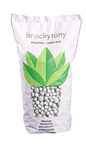 brockytony 8-16 mm. (Pflanzton, Pflanzgranulat, Blähton) 2 Liter. WEIß. BT840Y2