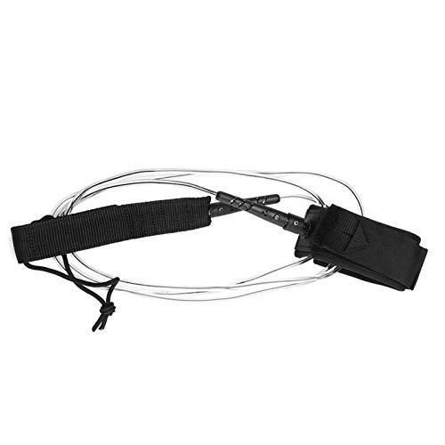 Viccilley Leash de Tabla de Surf Leash de Surf Premium y Recto para una navegación más Segura e ilimitada con Cierre de Gancho y Bucle Giratorios Dobles de Metal, 6 pies(Claro)