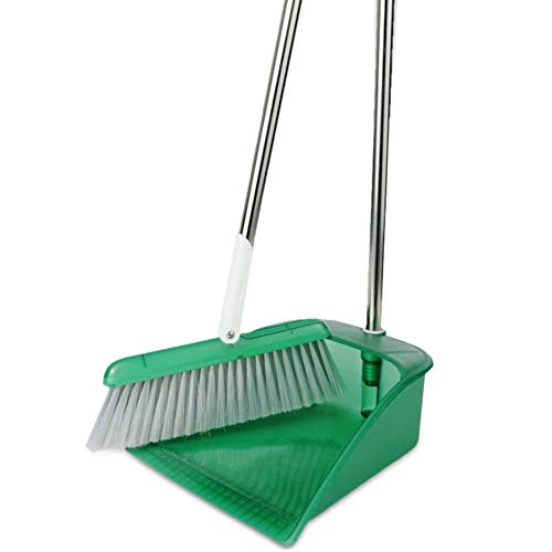 Kehrschaufel- & Bürstensätze Kehrset Weichplastik Edelstahlgriff Große Kapazität Antistatisch, (Farbe: Grün, Größe: 96x28cm)