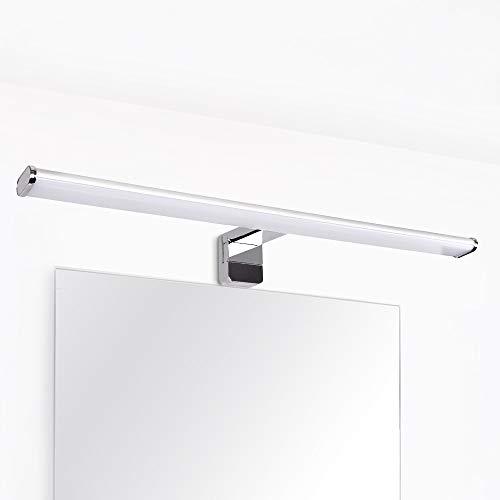 Lampara Aplique Cuarto de Pared de Luz Lavabo de LED 12W para en Espejo de Baño 60CM IP44 Prueba de Agua 3 en 1 Instalaciones 1000Lm Luz Natural 4000K No Regulable Lot de 1 de Enuotek