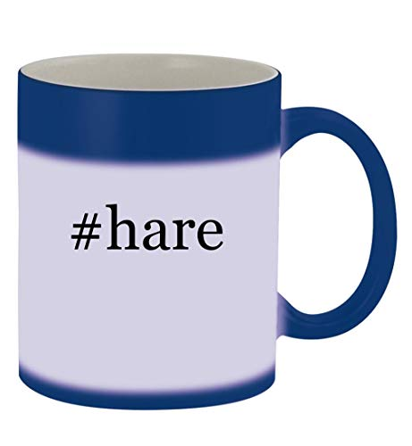 #hare - 11oz Hashtag Magic Color Changing Mug, Blue