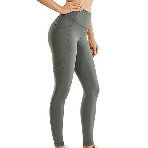 QTJY Pantalones de Yoga de Abdomen de Cintura Alta para Mujer, Entrenamiento de Fitness Deportivo Que Funciona con Polainas de Celulitis elásticas FL