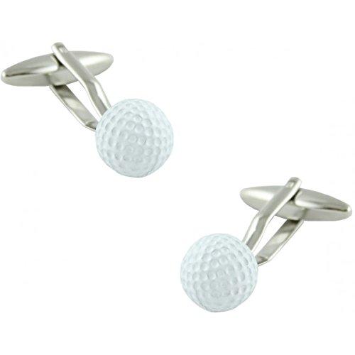 MasGemelos Manschettenknöpfe Golfball Weiß Cufflinks