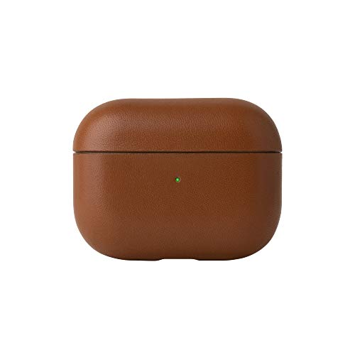 NATIVE UNION Leather Case for Airpods Pro - イタリア製本革レザーケース 全面保護カバー ワイヤレス充電対応 (Tan)