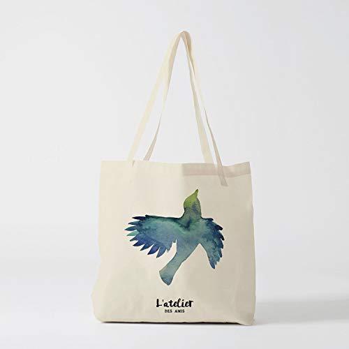 76DinahJordan tote tas vogel tas canvas katoenen tas luier tas handtas tote tas van race huidige tas boodschappentas cadeau voor vriend