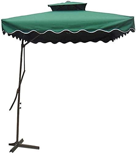 BJYG Sombrillas de jardín Parasol Cuadrado Roma Offset de 2,2 m para jardín, terraza, Patio Trasero y Piscina Sombrilla Colgante en voladizo de Doble Capa con Base Cruzada (Color: B)