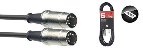 Stagg SMD6 Metal MIDI-Kabel (6m, DIN-Stecker-auf-DIN-Stecker)