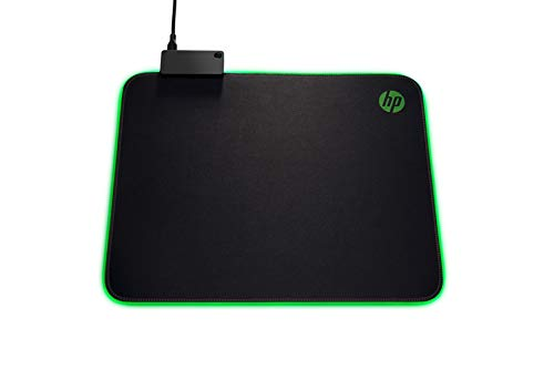 HP Pavilion RGB Gaming Mouse Pad 400 for High and Low DPI Settings, with Built-in USB Port (5JH72AA)