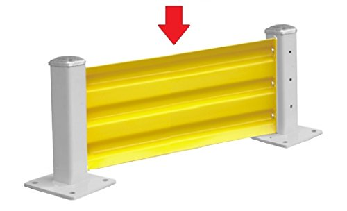 Pro²Tect Rammschutzwand Wand-Element CPW-W762, Länge 762 mm, flexibel kombinierbar, Rammschutz, Schutzwand, Gelb