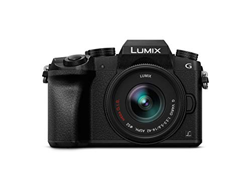 "Panasonic Lumix DMC-G7KEC - Cámara EVIL de 16 MP, Pantalla 3"", Grabación de Vídeo en 4K, Wi-Fi, RAW, Cuerpo Ergonómico, Kit con Objetivo Lumix Vario 14 - 42 mm/F3.5 - 5.6"