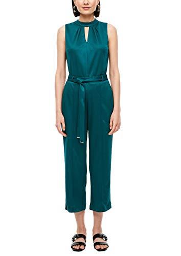 s.Oliver BLACK LABEL Damen Jumpsuit aus Edeljersey Green 40