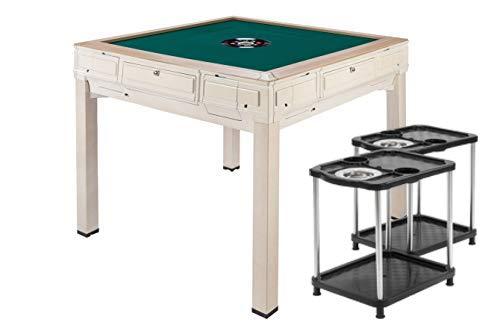 【紺色テーブル】全自動麻雀卓FR-X5 安全PSE付全自動麻雀卓 4本脚で楽々プレイ・ダイニング専用板付き サイドテーブル・保証書・赤どら・焼鳥・牌洗浄ボール付