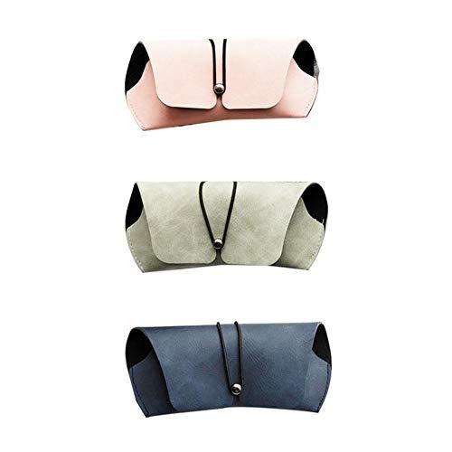 Weimay - Estuche Plegable para Gafas, Estuche rígido para Gafas de Sol, Caja para Gafas, Funda Protectora, absorción de Golpes, Color Aleatorio
