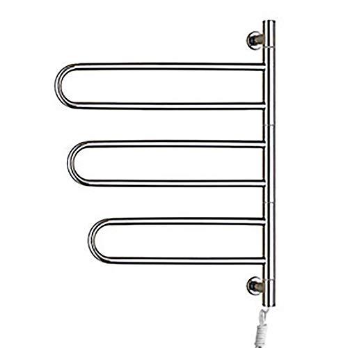 Preisvergleich Produktbild BILLY'S HOME Handtuchwärmer zur Wandmontage,  energieeffizienter,  elektrisch beheizter Handtuchhalter für Badezimmer,  Handtuchwärmer aus Edelstahl,  30, 7 x 23, 2 x 4, 4 Zoll, Plugin