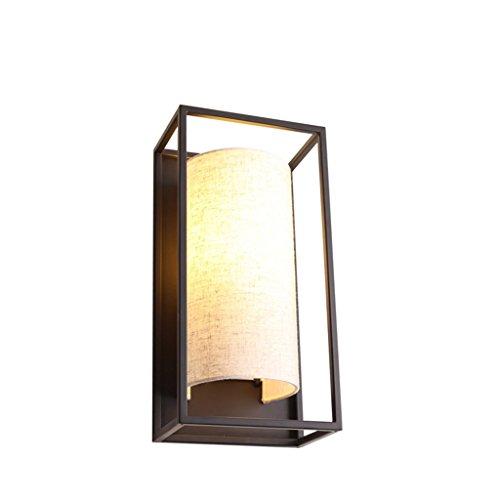 ZWL Lampe murale en lin, originalité Chambre à coucher en bois-chaise Un salon Restaurant Salle de loisirs Décorer Lampes et lanternes Simple tête E27, lampe murale en fer 20 * 12 * 40cm mode ( taille : 20*12*40cm )